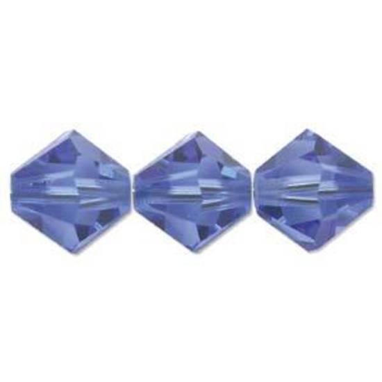 8mm  Swarovski Crystal Bicone, Sapphire