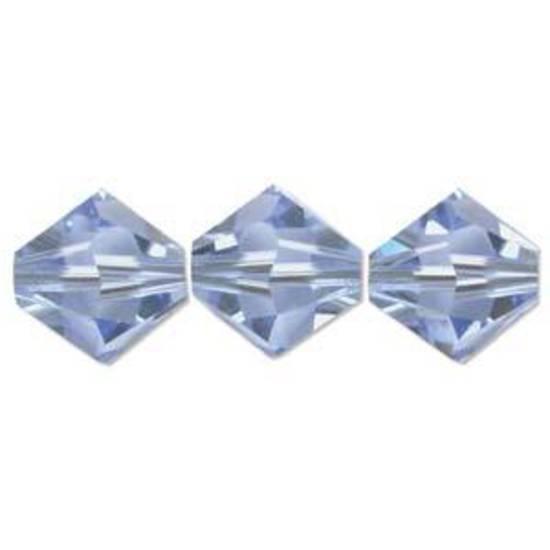 8mm  Swarovski Crystal Bicone, Sapphire, light