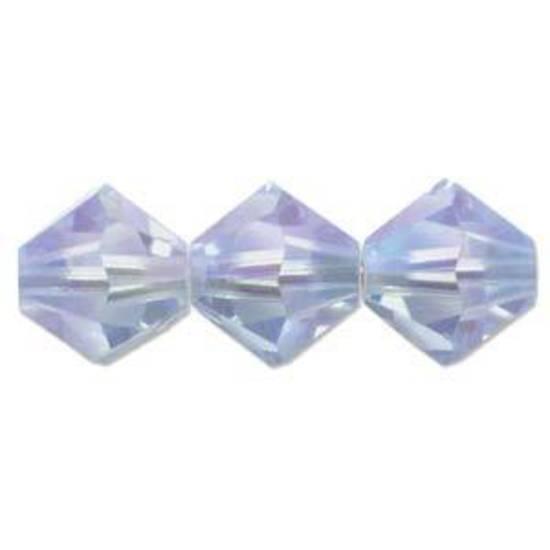 4mm Swarovski Crystal Bicone, Sapphire, light 2 x AB