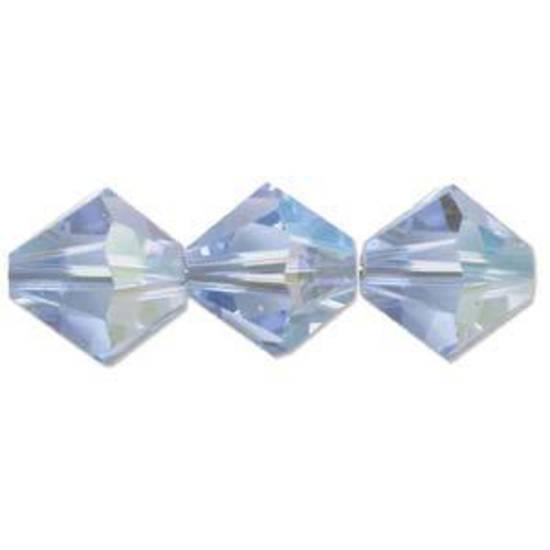 4mm Swarovski Crystal Bicone, Sapphire, light AB