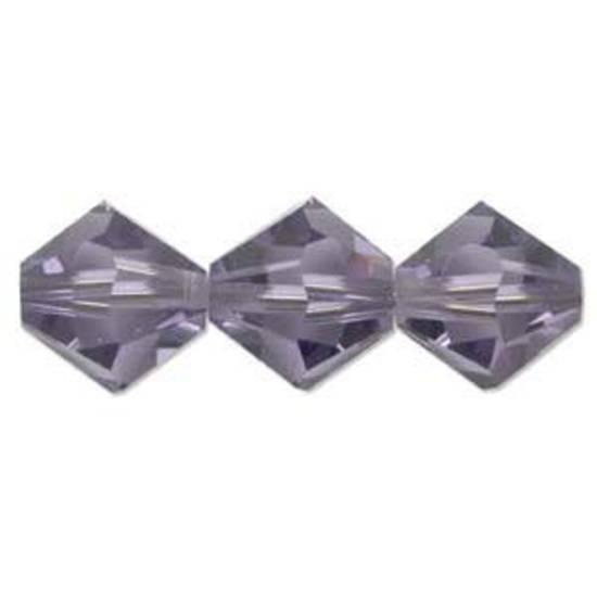 6mm Swarovski Crystal Bicone, Tanzanite