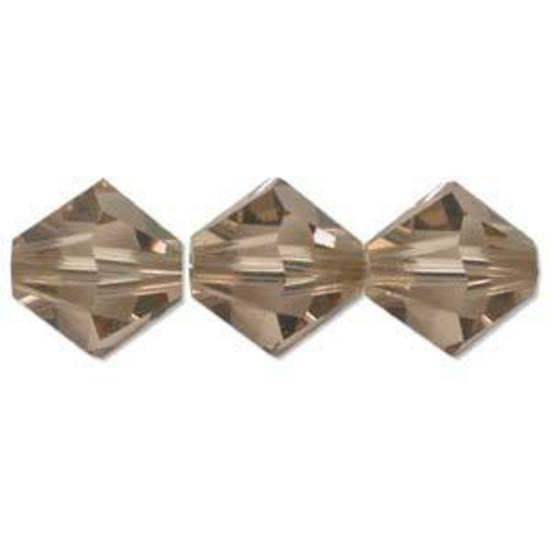 4mm Swarovski Crystal Bicone, Topaz, Colorado, light