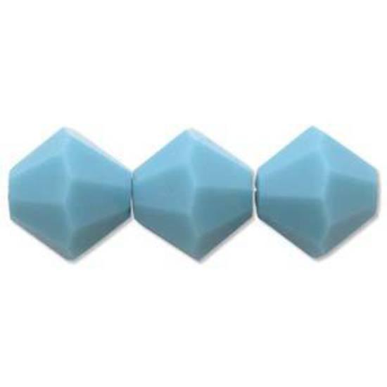 4mm Swarovski Crystal Bicone, Turquoise