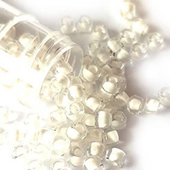 Matsuno size 6 round: 201 -  Clear, white colour lined
