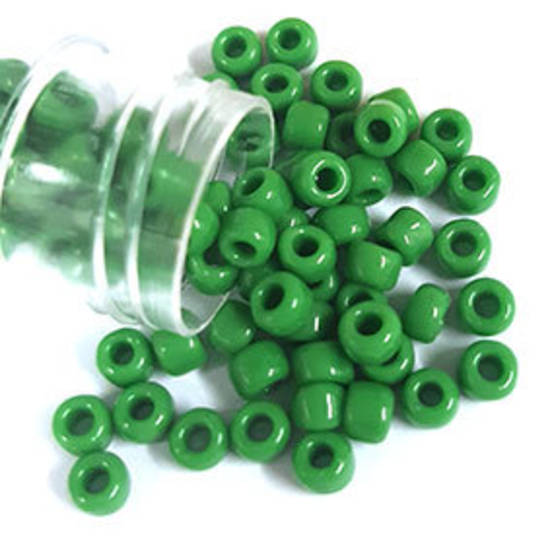 Matsuno size 6 round: 411 - Grass Green Opaque