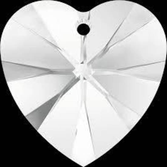 Swarovski Heart, 18mm - Crystal