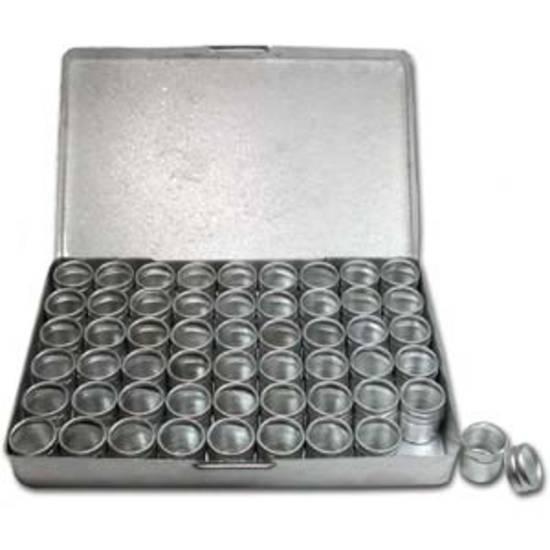Aluminium Storage box: 54 containers (16 x 18mm) - NOTE MEASUREMENTS