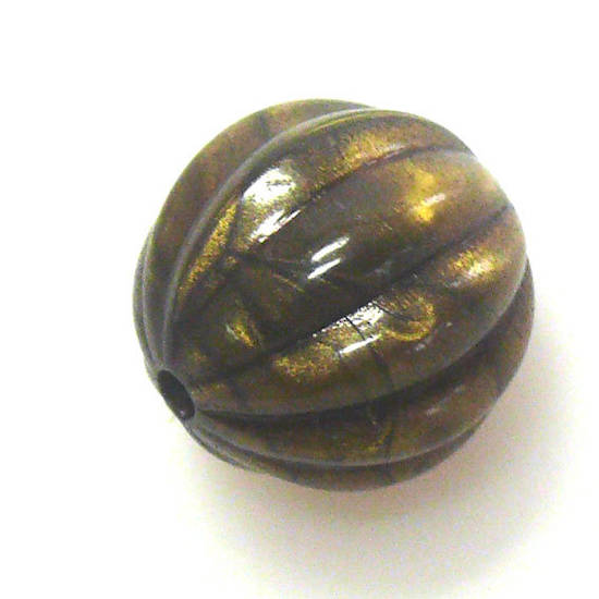 Acrylic Bead, ridged ball