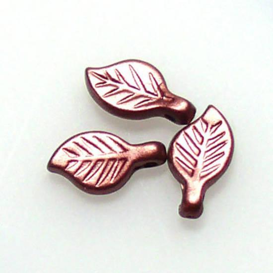 Acrylic Leaf, 5mm x 9mm - Reddy Brown