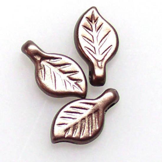 Acrylic Leaf, 5mm x 9mm - Soft brown