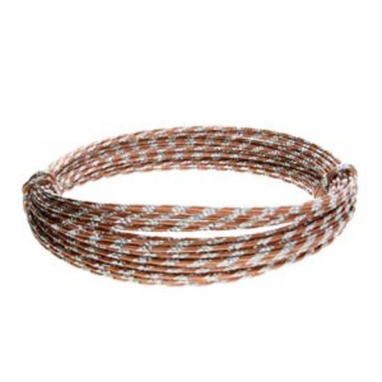 Aluminum Diamond Cut Craft Wire: 12 gauge - Copper/Silver