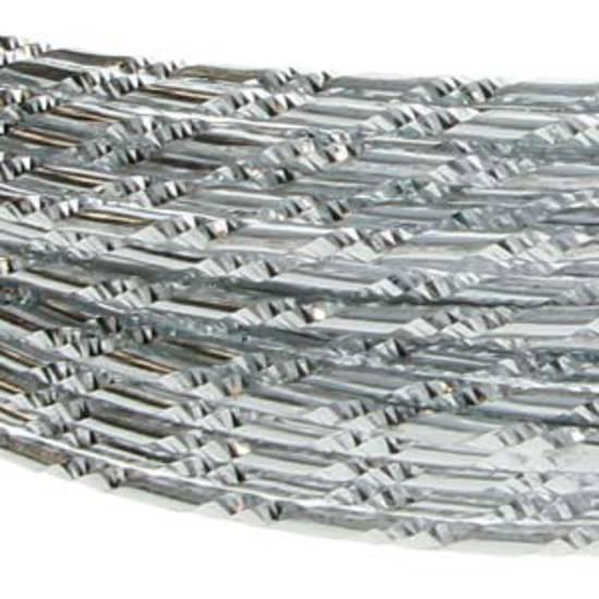 Aluminum Diamond Cut Craft Wire: 12 gauge - Silver/Silver