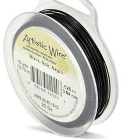 Artistic Wire: 22 gauge, Black