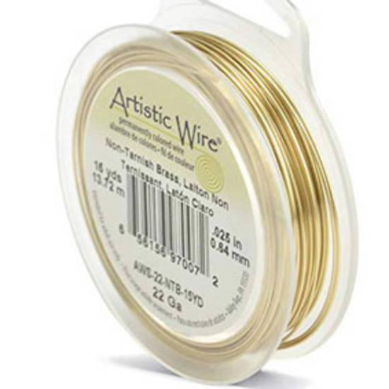 Artistic Wire: 22 gauge, Tarnish Resistant  Brass