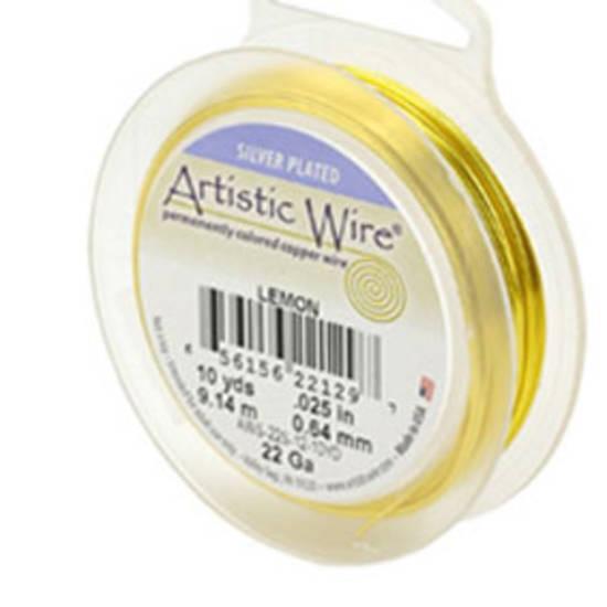 Artistic Wire: 22 gauge, Lemon