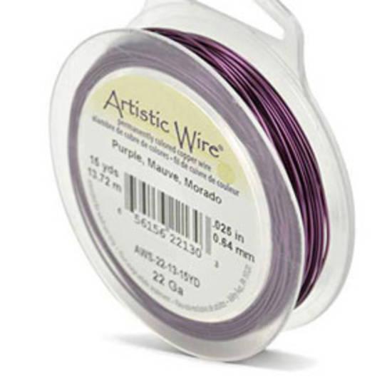 Artistic Wire:  22 gauge, Purple