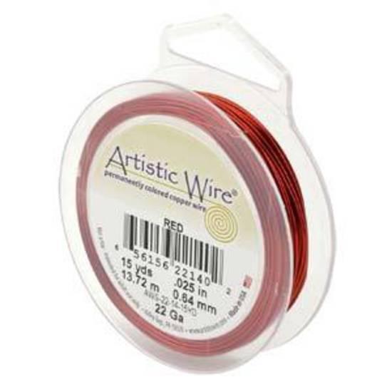Artistic Wire: 22 gauge, Red