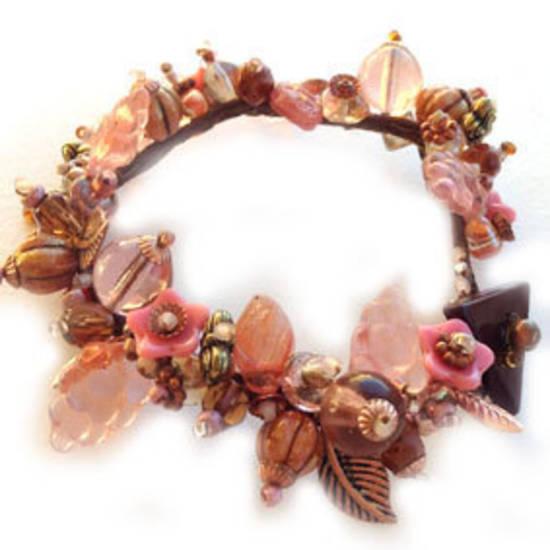 Vineyard Garden Bracelet KITSET: Autumn Rose