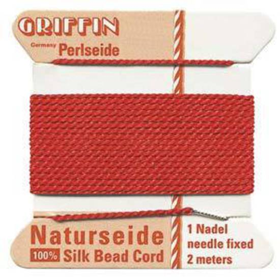Griffin Silk Cord - Red - Size 4 (0.6mm)