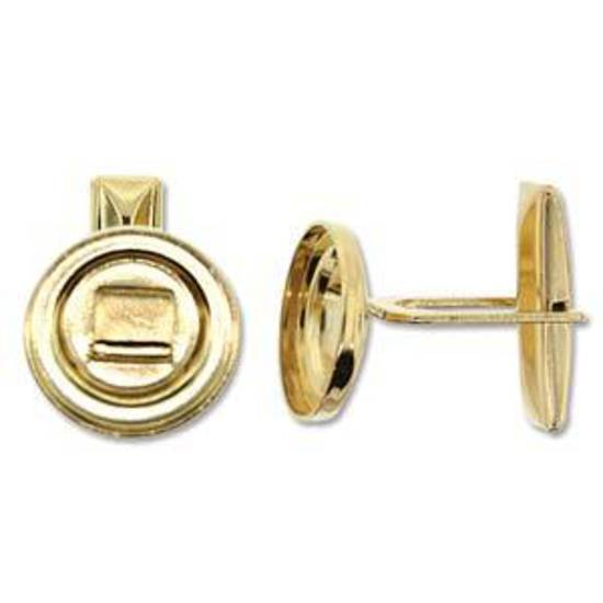 Cufflink Base - gold