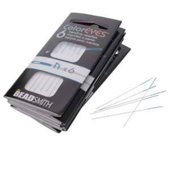 NEW! Beadsmith ColourEye Needles, 6 pack: Size 11 (blue)