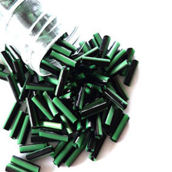 Chinese Bugle, 7mm: Opaque Green/Black stripe