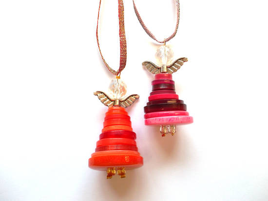 KITSET: Button Angel - Beads and Findings only NO BUTTONS