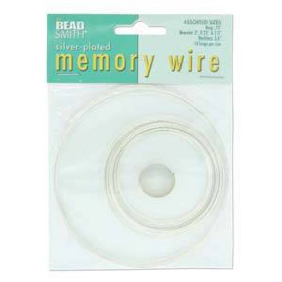 Memory Wire Pack: Assorted sizes - silver