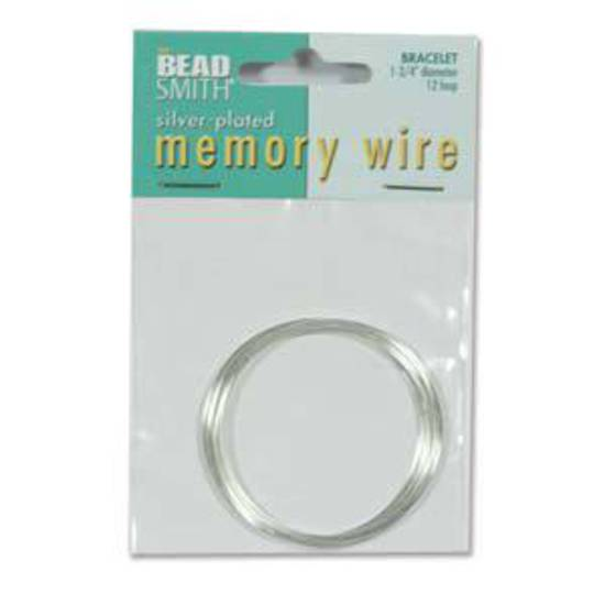 """Memory Wire, Small (1.75"""") Bracelet - bright silver: 12 coil pack"""