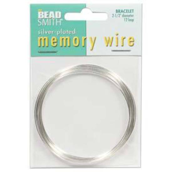"""Memory Wire, Larger (2.25"""")  Bracelet - bright silver: 12 coil pack"""