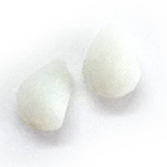 Chinese Crystal, 6mm x 8mm drop - Chalk White