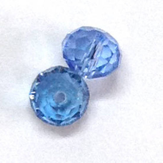Chinese Crystal, 8mm rhondelle - Sapphire