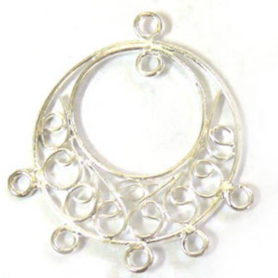 Silver Chandelier Top, curlicue circle
