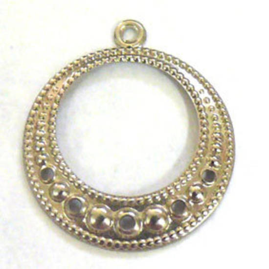 Antique Silver Chandelier Top, fine dotty round
