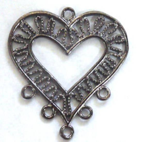Gunmetal Chandelier Top, decorative heart