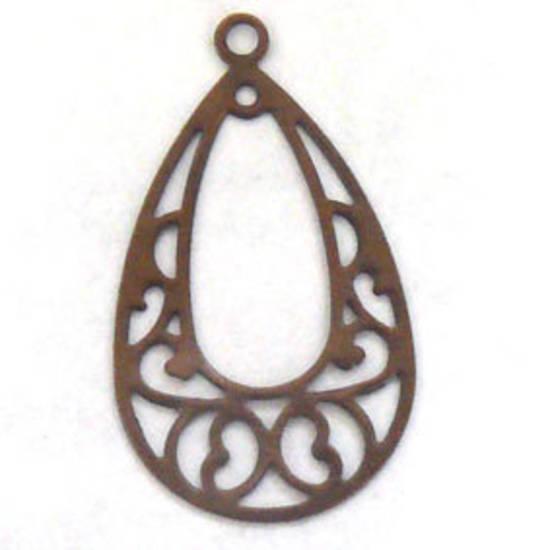 Coppery Brass Chandelier Top, fine decorative pear