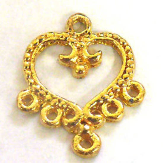 Gold Chandelier Top, decorative heart