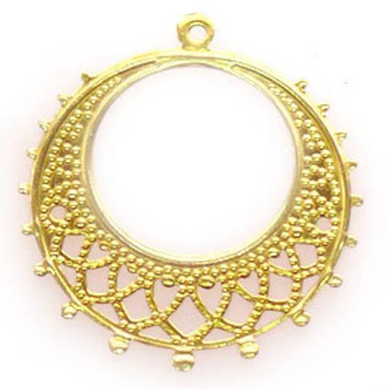 Gold Chandelier Top, Fine Filigree Round