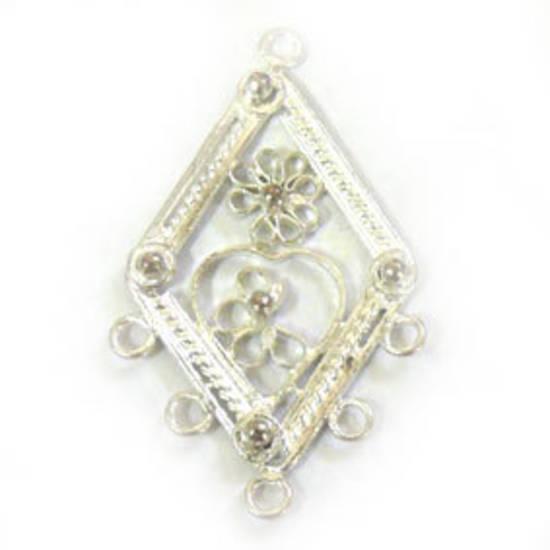 Silver Chandelier Top, decorative diamond