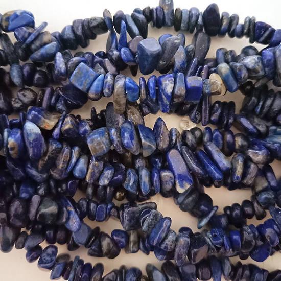 Lapis Lazuli Chips: 42cm strand