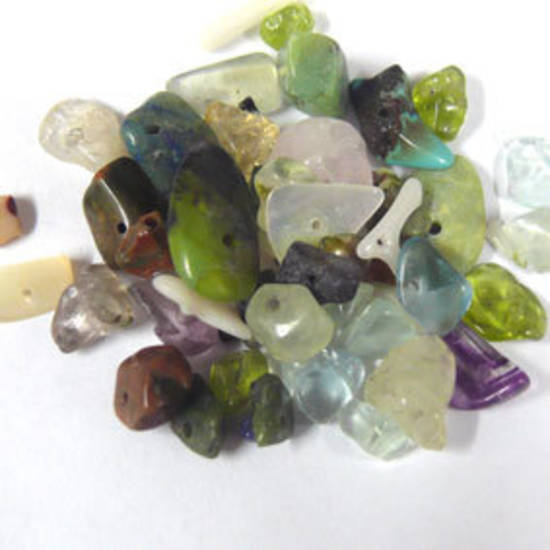 Semi Precious Chip Mix - Lighter Greens (small tube)