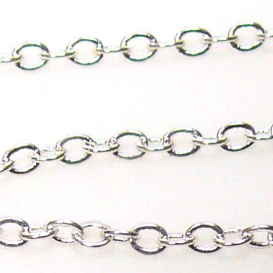 Very Fine Plain Chain: Bright Silver (2mm)