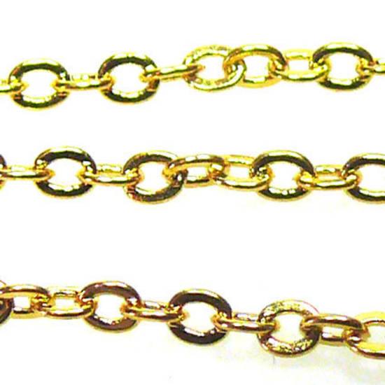 Very Fine Plain Chain: Gold (2mm)