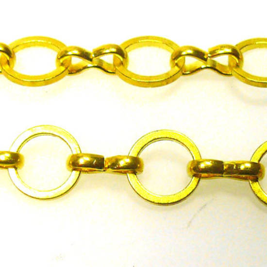 Small Round Chain, figure 8 links, Gold