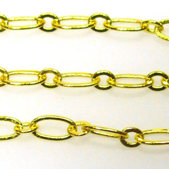 Fine Oval Chain: Gold (6mm/3mm)