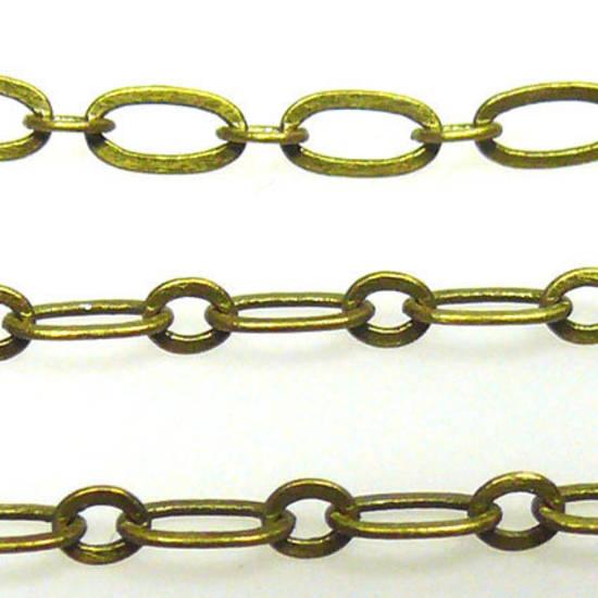 FIne Oval Chain: Brass (6mm/3mm)