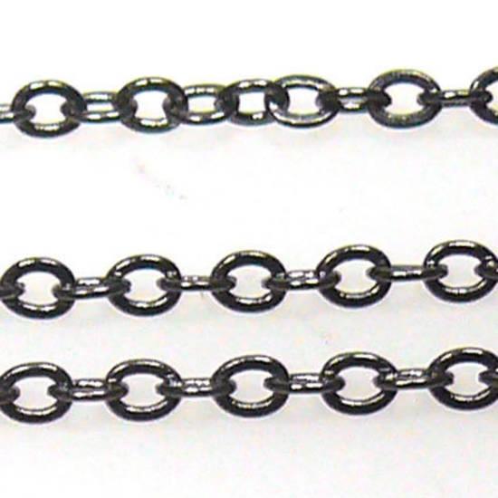 Very Fine Plain Chain: Gunmetal (2mm)