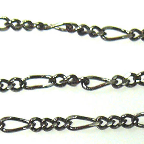 Fine Figaro Chain: Gunmetal (5mm/3mm)