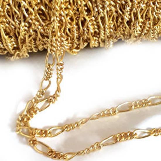 Fine Figaro Chain: Gold (5mm/3mm)
