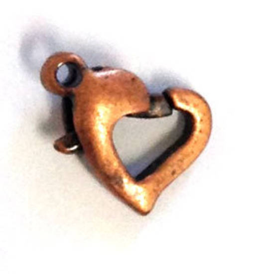 Heart Shaped Parrot Clasp - copper